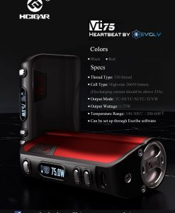 black and red hcigar vt75