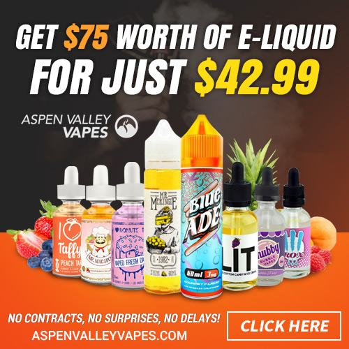 Aspen Valley Vapes Build Your Own Sample Eliquid Box 500x500