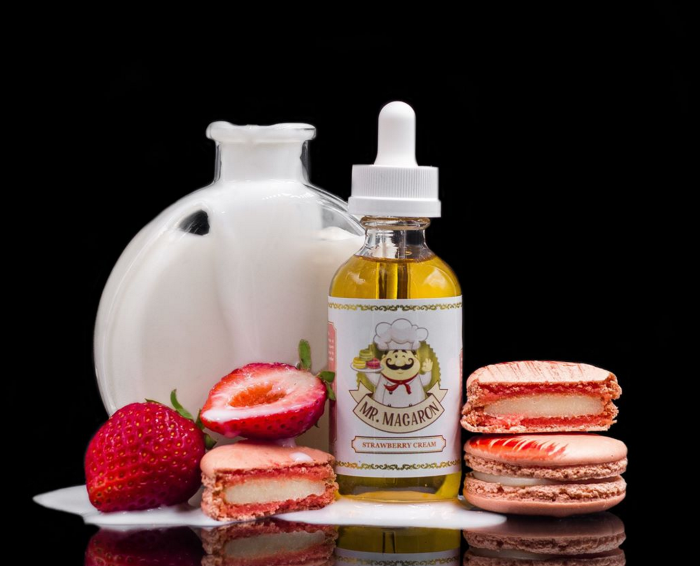Mr Macaron Strawberry Cream E Juice | Premium 60ml E Liquid