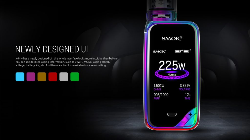SMOK x-priv screen